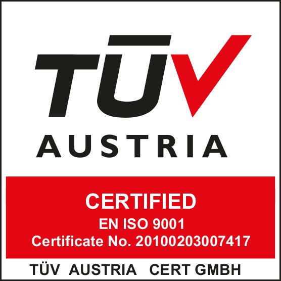 ISO 9001 - 2008 -TUV AUSTRIA